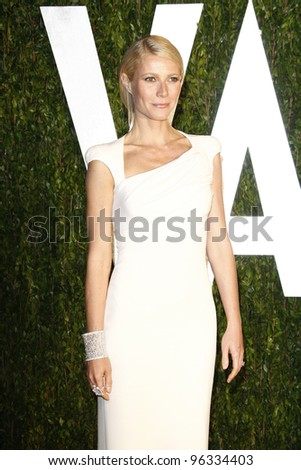 WEST HOLLYWOOD, CA - FEB 26: Gwyneth Paltrow at the Vanity Fair Oscar Party at Sunset Tower on February 26, 2012 in West Hollywood, California. - stock photo
