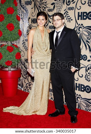 WEST HOLLYWOOD, CALIFORNIA - September 20, 2009. Jamie-Lynn Sigler and Jerry Ferrara at the HBO POST EMMY Party held at the Pacific Design Center, West Hollywood, Los Angeles.   - stock photo