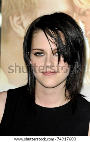 WEST HOLLYWOOD - FEB 18: Kristen Stewart arriving at the premiere of 'The Yellow Handkerchief' held at the Pacific Design Center in West Hollywood, California on February 18,  2010. - stock photo