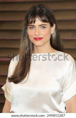 WEST HOLLYWOOD - MAR 2:: Amanda Peet at the 2014 Vanity Fair Oscar Party on March 2, 2014 in West Hollywood, California - stock photo