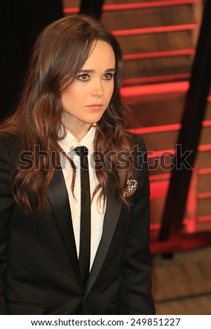 WEST HOLLYWOOD - MAR 2:: Ellen Page at the 2014 Vanity Fair Oscar Party on March 2, 2014 in West Hollywood, California - stock photo