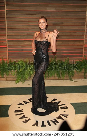 WEST HOLLYWOOD - MAR 2:: Irina Shayk at the 2014 Vanity Fair Oscar Party on March 2, 2014 in West Hollywood, California - stock photo