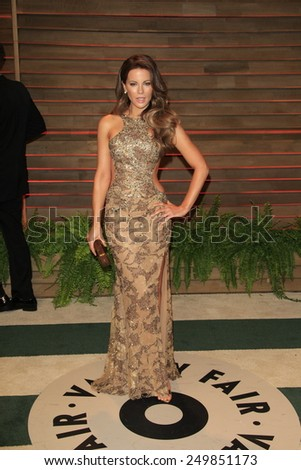 WEST HOLLYWOOD - MAR 2:: Kate Beckinsale at the 2014 Vanity Fair Oscar Party on March 2, 2014 in West Hollywood, California - stock photo