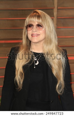 WEST HOLLYWOOD - MAR 2:: Stevie Nicks at the 2014 Vanity Fair Oscar Party on March 2, 2014 in West Hollywood, California - stock photo