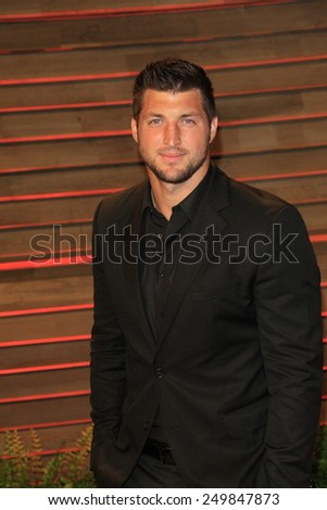 WEST HOLLYWOOD - MAR 2:: Tim Tebow at the 2014 Vanity Fair Oscar Party on March 2, 2014 in West Hollywood, California - stock photo