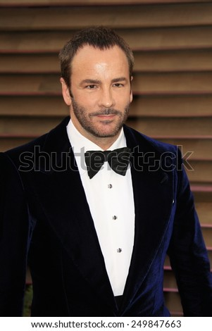 WEST HOLLYWOOD - MAR 2:: Tom Ford at the 2014 Vanity Fair Oscar Party on March 2, 2014 in West Hollywood, California - stock photo