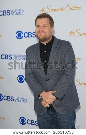 WEST HOLLYWOOD - MAY 18: James Corden at the CBS Television Studios 3rd Annual Summer Soiree Party held at The London Hotel on May 18, 2015 in West Hollywood, California - stock photo