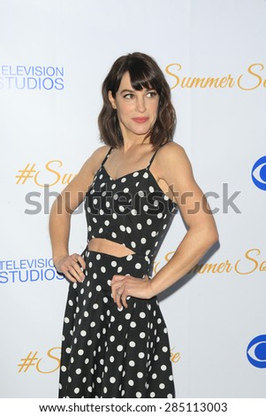 WEST HOLLYWOOD - MAY 18: Lindsay Sloane at the CBS Television Studios 3rd Annual Summer Soiree Party held at The London Hotel on May 18, 2015 in West Hollywood, California - stock photo
