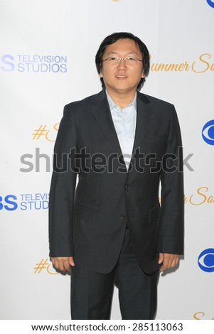 WEST HOLLYWOOD - MAY 18: Masi Oka at the CBS Television Studios 3rd Annual Summer Soiree Party held at The London Hotel on May 18, 2015 in West Hollywood, California - stock photo