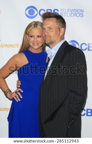 WEST HOLLYWOOD - MAY 18: Nancy O'Dell, husband at the CBS Television Studios 3rd Annual Summer Soiree Party held at The London Hotel on May 18, 2015 in West Hollywood, California - stock photo