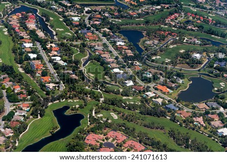 West Palm Beach - aerial view - stock photo