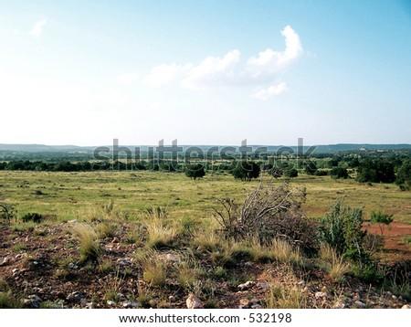West Texas landscape - stock photo