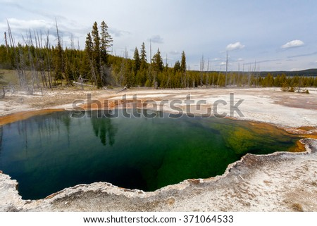 West Thumb, Yellowstone National Park, Wyoming, USA - stock photo