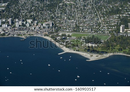 West Vancouver, beaches, English Bay,  - stock photo
