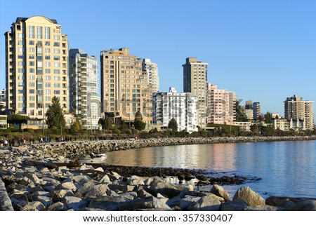 West Vancouver shore, British Columbia, Canada - stock photo