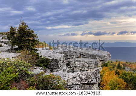 West Virginia Mountains - stock photo