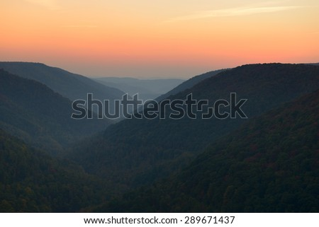 West Virginia Mountains in Autumn - stock photo