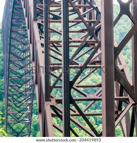 West Virginia's New River Gorge bridge carrying US 19  - stock photo