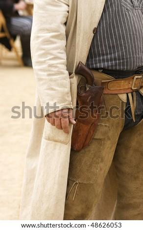 Western Gunfighter - stock photo
