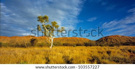 Western Macdonnell Ranges - stock photo