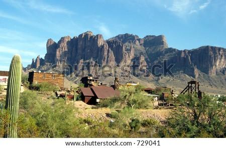 Western Mining Town - stock photo