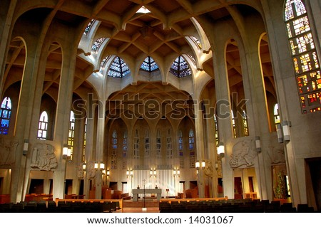Westminster Abbey Benedictine Monastery, Mission, Vancouver, BC, Canada - stock photo