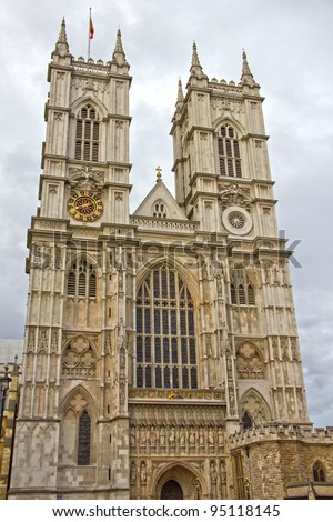 Westminster Abbey, London, England - stock photo