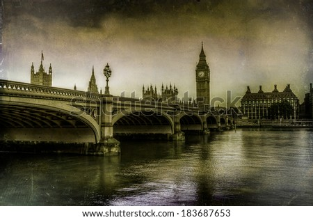 Westminster antique Filter - stock photo