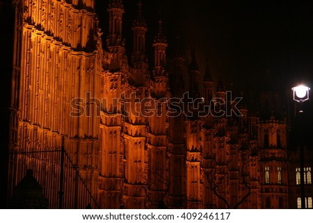 Westminster at Night  - stock photo