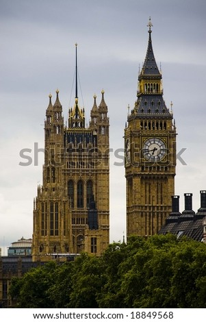 westminster & parlament - stock photo