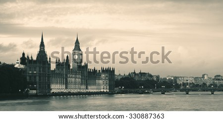 Westminster with House of Parliament, London. - stock photo