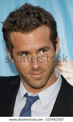 """WESTWOOD, CALIFORNIA - August 1, 2011. Ryan Reynolds at the Los Angeles premiere of """"The Change-Up"""" held at the Mann Village Theater, Los Angeles. - stock photo"""
