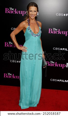 "WESTWOOD, CALIFORNIA - Wednesday April 21, 2010. Edyta Sliwinska at the Los Angeles premiere of ""The Back-Up Plan"" held at the Westwood Village Theater, Hollywood.  - stock photo"