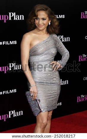 "WESTWOOD, CALIFORNIA - Wednesday April 21, 2010. Jennifer Lopez at the Los Angeles premiere of ""The Back-Up Plan"" held at the Westwood Village Theater, Hollywood.  - stock photo"