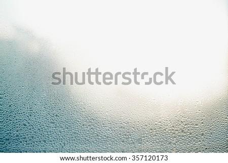 Wet Glass Background - stock photo