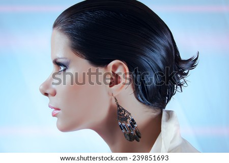 Wet Hairstyle - stock photo