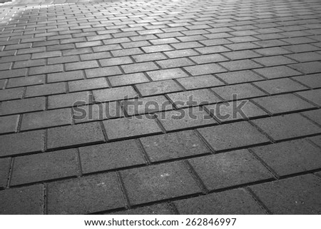 Wet the surface of  pavement - stock photo