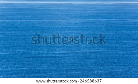 whale watching from australia's coast line - stock photo