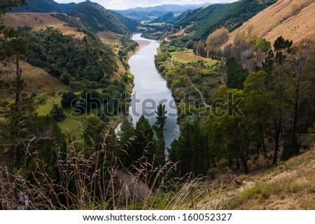 Whanganui River, North Island, New Zealand - stock photo