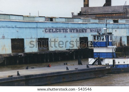 wharf at New Orleans - stock photo