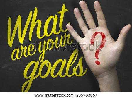 What Are Your Goals on blackboard  - stock photo
