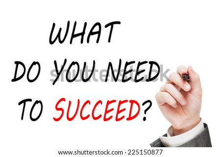 What Do You Need to Succeed? - stock photo