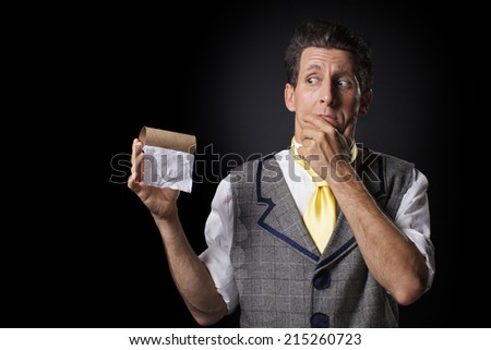 What doing, if toilet paper ended - stock photo
