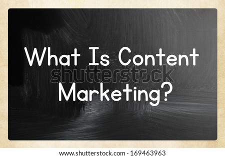 what is content marketing? - stock photo
