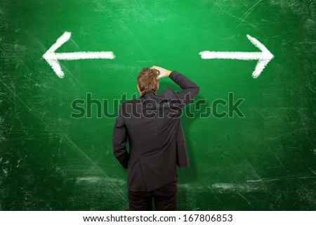What is the right direction ? - stock photo