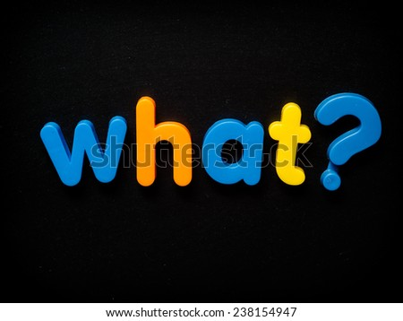 What question - stock photo