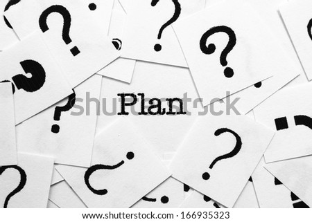 What's the plan - stock photo