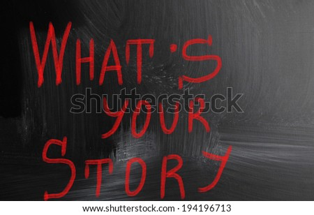 what's your story - stock photo