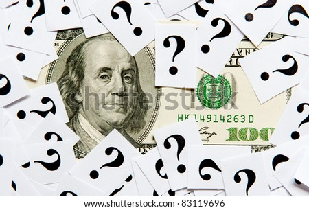 What will be with dollar? - stock photo