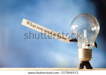 What You Need To Know - stock photo